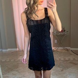 Calypso St. Barth Black Open Lace Crochet Dress